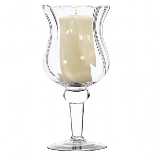 Folded Footed Candle Holder 24cm